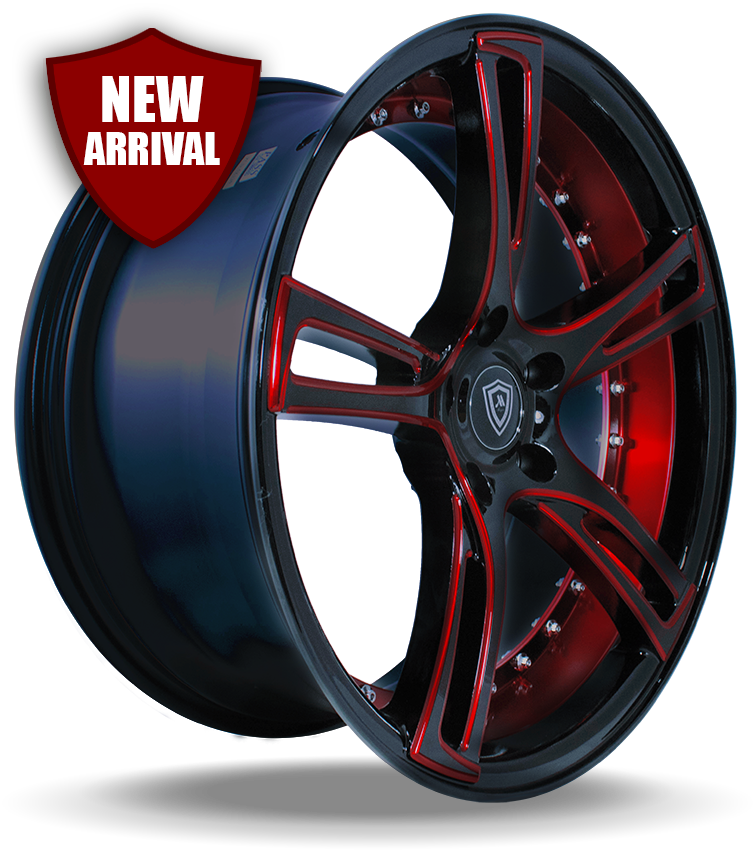M3247 Red Face Red Inner Side Wheel New