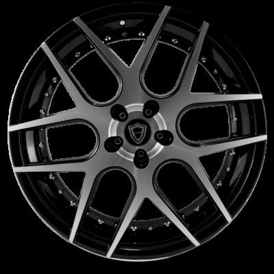 C0136 polish face inner lip black front wheel