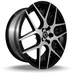 C0136 polish face inner lip black side wheel