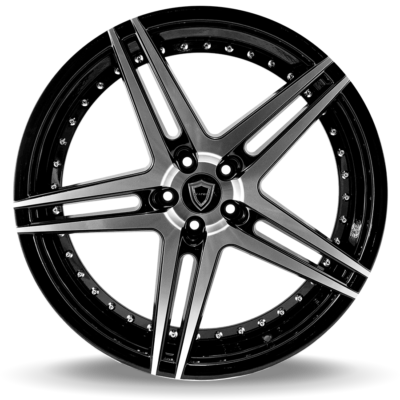 C5260 polish face inner lip black front wheel