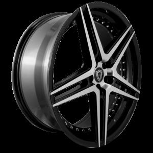 C5260 polish face inner lip black side wheel