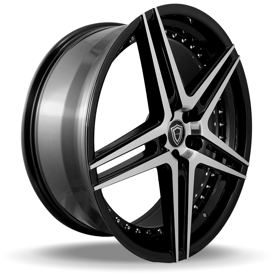 C5260 polish face inner lip black side wheel