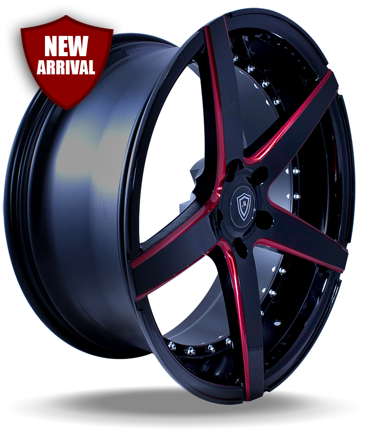 M3226 Red Edge Gloss Black Side Wheel New