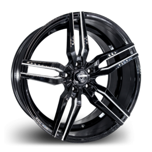 m3216 Marquee Luxury Wheel Black Polish Side