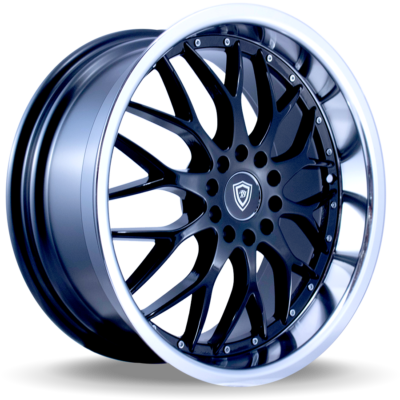 W503 black center polish lip side wheel