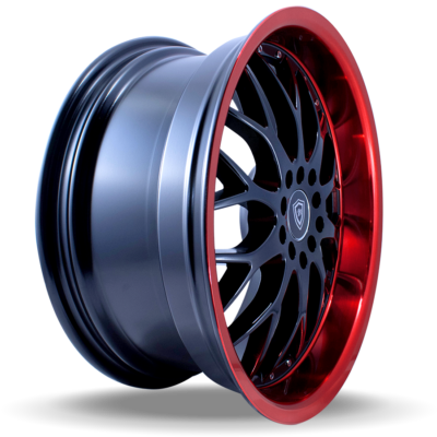 W503 black center red lip side wheel