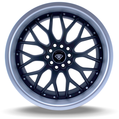 W503 black matte center polish lip front wheel